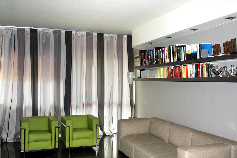 Tende da interno appartamento a novara arelli tessuti