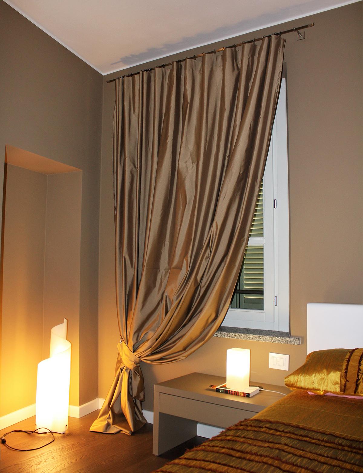 tende di lusso antica abitazione novara arelli tessuti